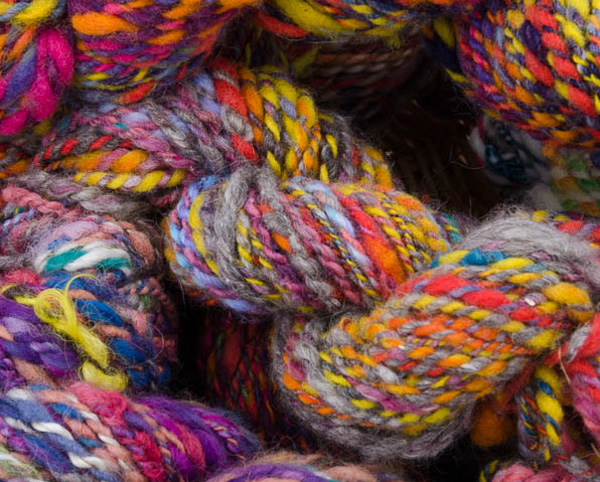 colorful handspun yarn