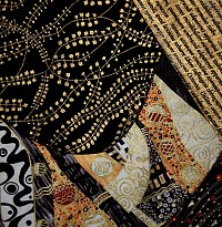Decomono II detail of the fabrics and design elements Donald Talbot uses