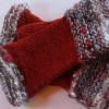 Fingerless Mittens Using Wild Handspun
