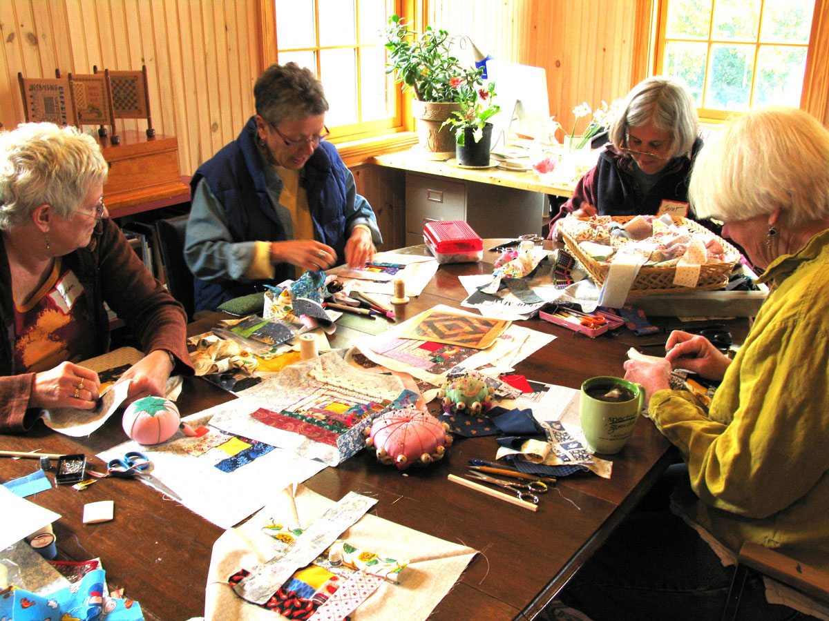 a workshop on Manx quilting