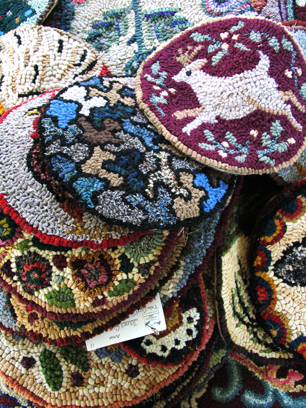 rug hooking samples