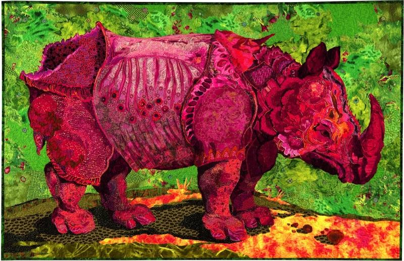 maine fiberarts susan carlson fabric collage quilts